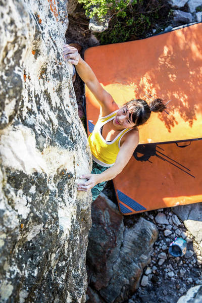 Wall Art - Photograph - Asian, Athletic Female Climbs by Alexandra Simone