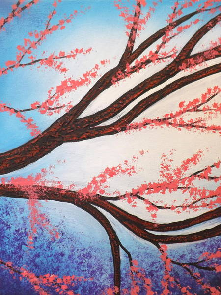 Painting - Asian Bloom Triptych 2 by Darren Robinson