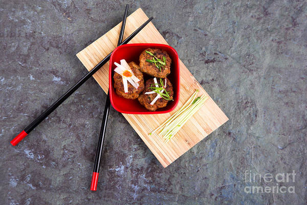 Asian Food Photograph - Asian Meatballs 1 by Jane Rix
