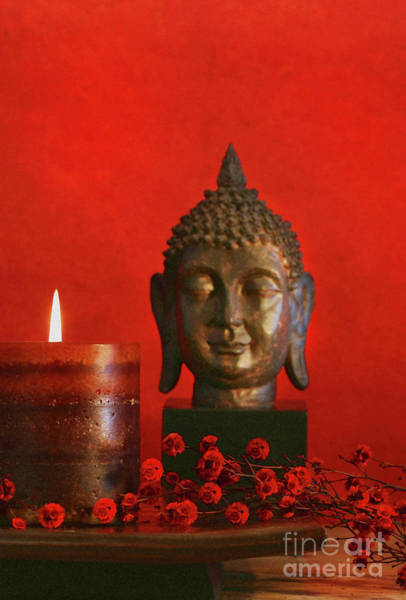 Wall Art - Photograph - Asian Theme With Candle  by Sandra Cunningham