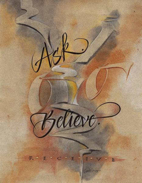 Painting - Ask Believe Receive by Sally Penley