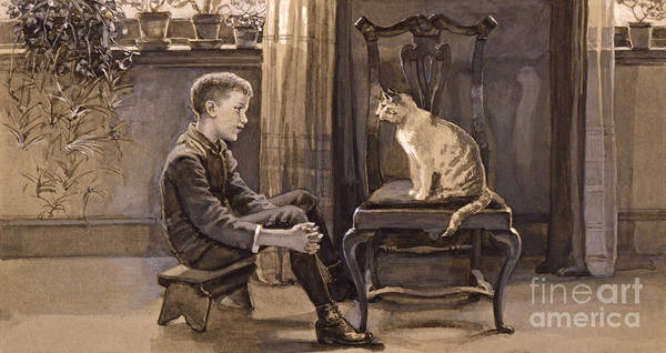 Wall Art - Photograph - Ask The Cat 1888 by Padre Art