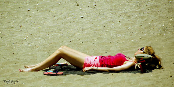 Photograph - Asleep At The Beach 2 by Floyd Snyder