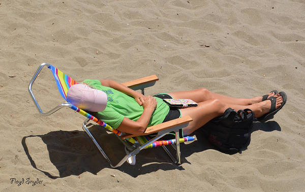 Photograph - Asleep At The Beach by Floyd Snyder