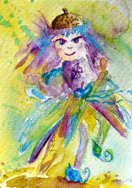 Atc Painting - Asleif by Beverley Harper Tinsley
