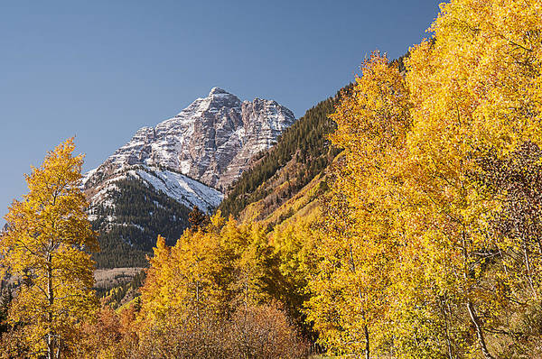 Photograph - Aspen And Mountains 4 by Lee Kirchhevel
