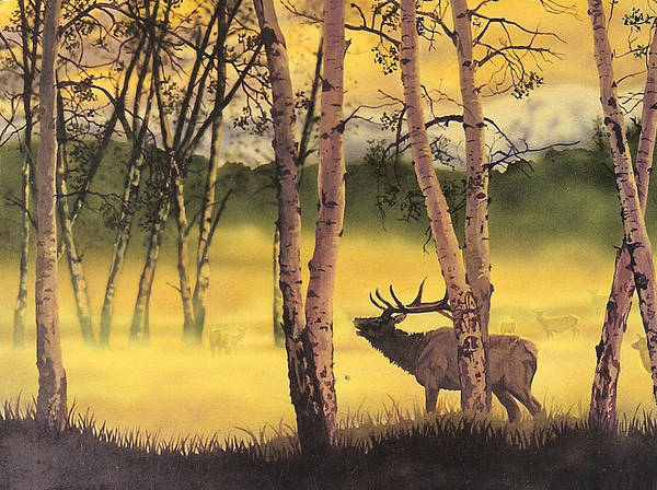 Painting - Aspen Challenge by Tim  Joyner