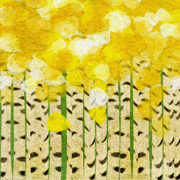 Digital Art - Aspen Colorado Painterly Spring Square by Andee Design