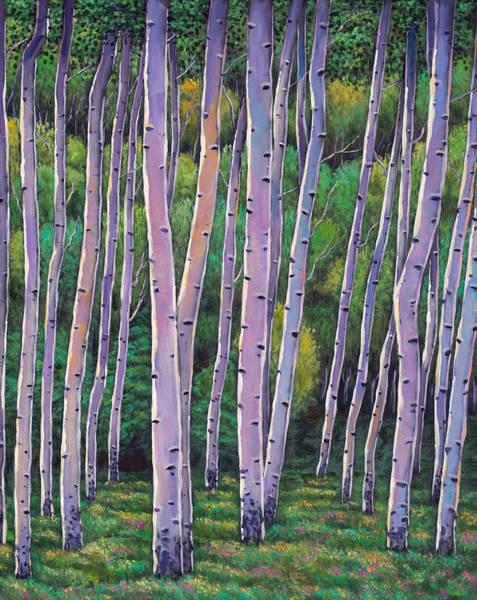 Colorado Landscape Painting - Aspen Enclave by Johnathan Harris