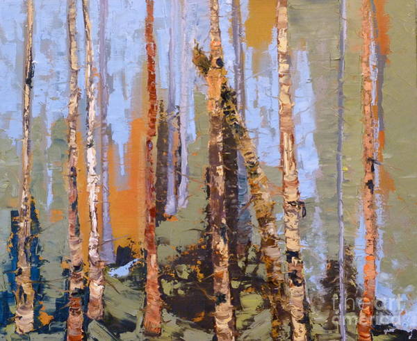 Painting - Aspen Forest Colorado by Susan A Becker