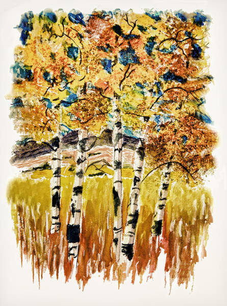 Painting - Aspen Glow Redux by Donna Proctor