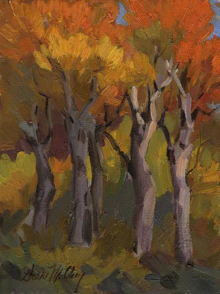 Sierra Nevada Painting - Aspen Glowing by Diane McClary