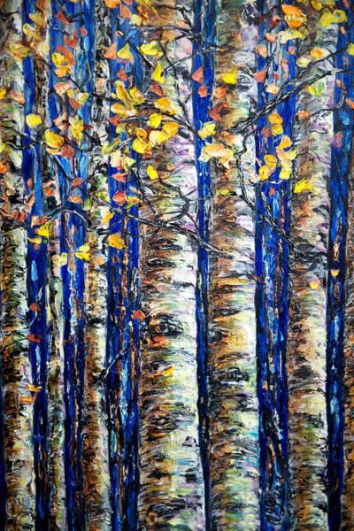 Painting - Aspen Grove by OLena Art - Lena Owens