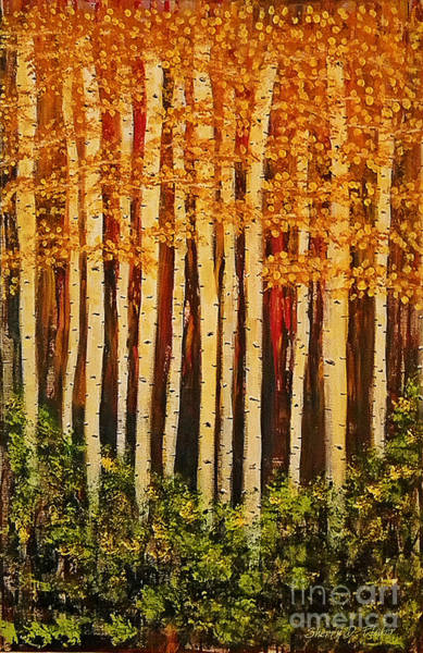 Painting - Aspen Grove  by Sherry Flaker