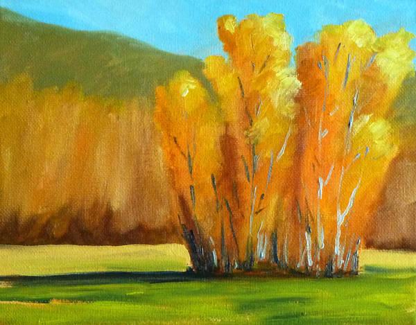 Prairie Painting - Aspen Season by Nancy Merkle