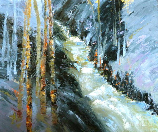 Painting - Aspen Spring Colorado by Susan A Becker