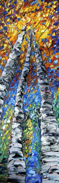 Painting - Aspen Up by OLena Art - Lena Owens