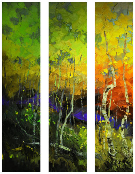Aspens In Season Art Print