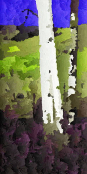 Digital Art - Aspens On Boulder Mountain by David Hansen