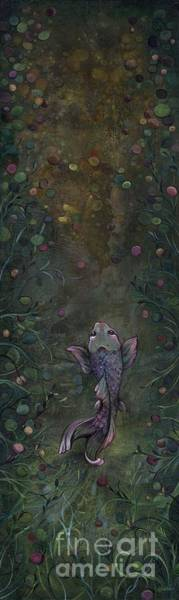 Wall Art - Painting - Aspiration Of The Koi by Shadia Derbyshire