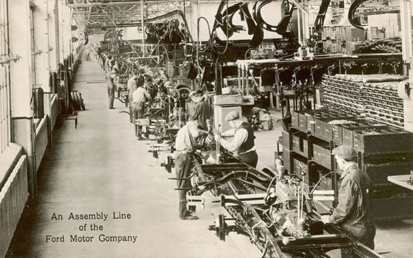 Wall Art - Photograph - Assembly Line At The Rouge Plant, Ford by Mary Evans Picture Library