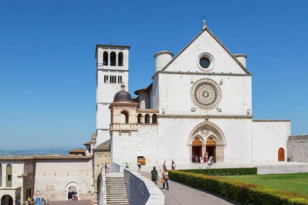 Welsh Church Photograph - Assisi, Italy. Basilica Di San by Ken Welsh