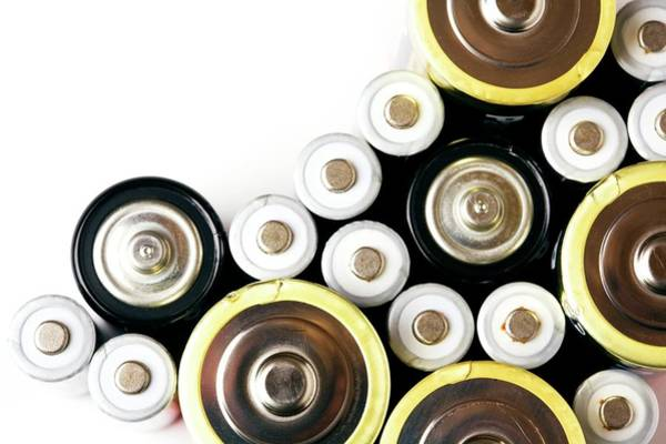 Battery D Photograph - Assorted Batteries by Emmeline Watkins/science Photo Library