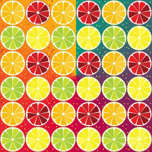 Citrus Fruit Wall Art - Digital Art - Assorted Citrus Pattern by Gaspar Avila