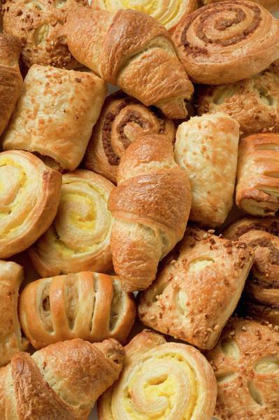 Wall Art - Photograph - Assorted Danish Pastries by Foodcollection
