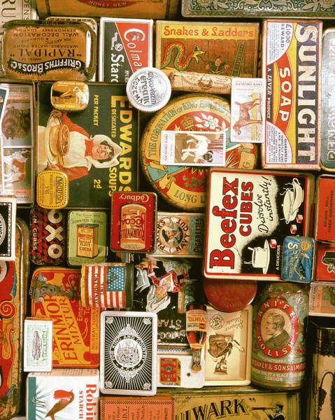 Tin Box Photograph - Assorted Packaging Labels by Tony Craddock/science Photo Library