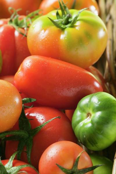 Wall Art - Photograph - Assorted Tomatoes (detail) by Foodcollection