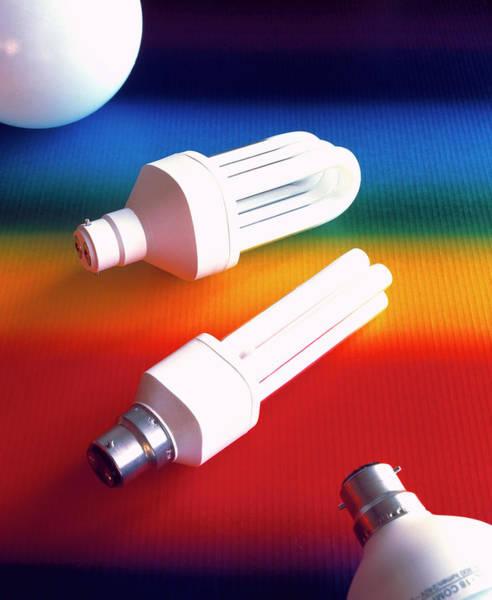 Energy-saving Wall Art - Photograph - Assortment Of Energy-efficient Light Bulbs by Martin Bond/science Photo Library