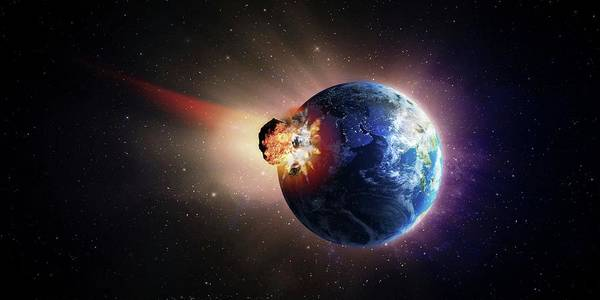 Extinction Photograph - Asteroid Impacting Earth by Andrzej Wojcicki/science Photo Library