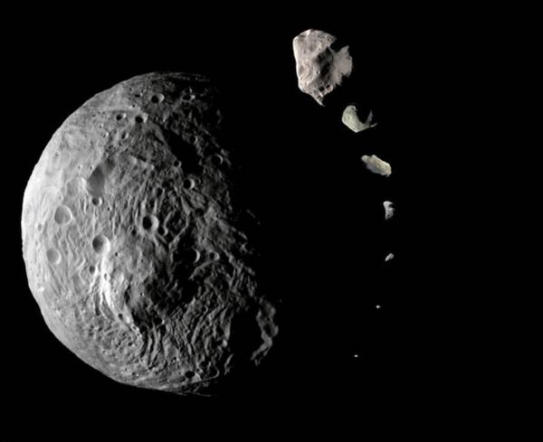 Comparative Wall Art - Photograph - Asteroid Sizes Compared by Nasa/science Photo Library