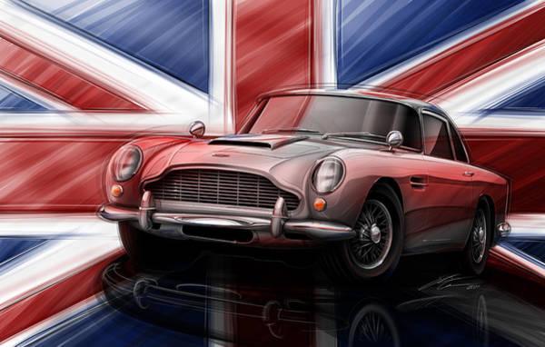 Db5 Wall Art - Digital Art - Aston Martin Db5 1963 by Etienne Carignan