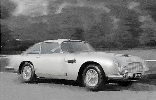 Car Mixed Media - Aston Martin Db5 Watercolor by Naxart Studio