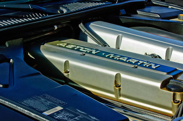 Photograph - Aston Martin Db7 Engine by Jill Reger