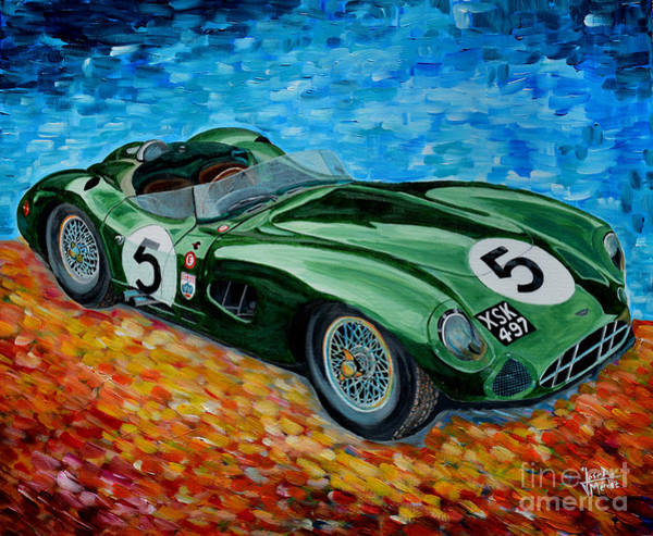 Le Mans 24 Painting - Aston Martin Dbr1 by Jose Mendez