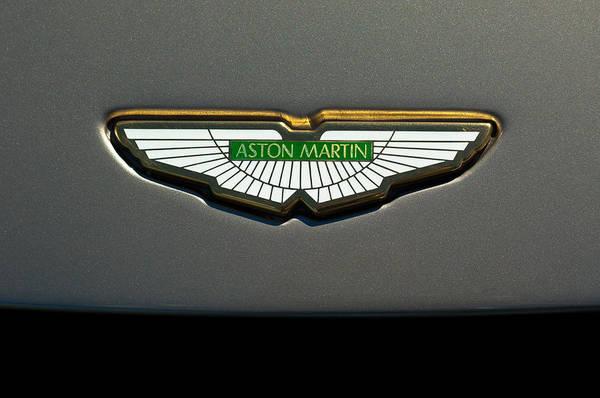 Supercar Photograph - Aston Martin Emblem by Jill Reger