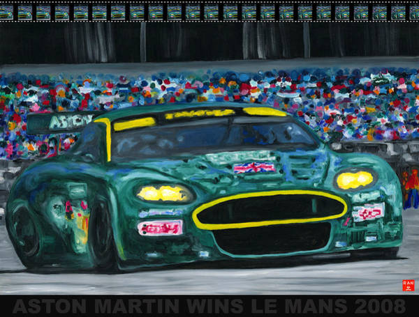 Painting - Aston Martin Wins Le Mans 2008 Pop by Ran Andrews