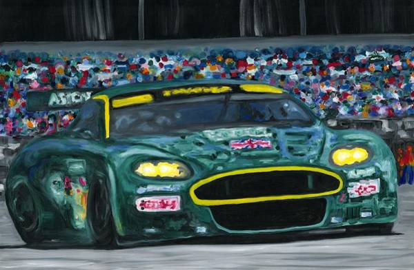 Painting - Aston Martin Wins Le Mans 2008 by Ran Andrews