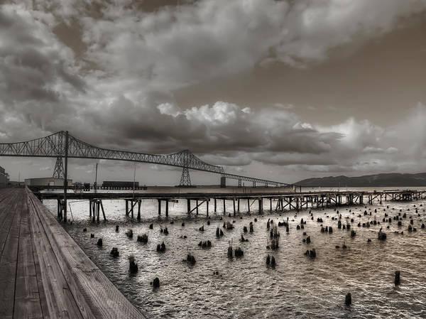 Astoria Bridge Photograph - Astoria Bridge Columbia River by Daniel Hagerman