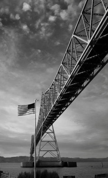 Photograph - Astoria Bridge From Riverfront.  by HW Kateley