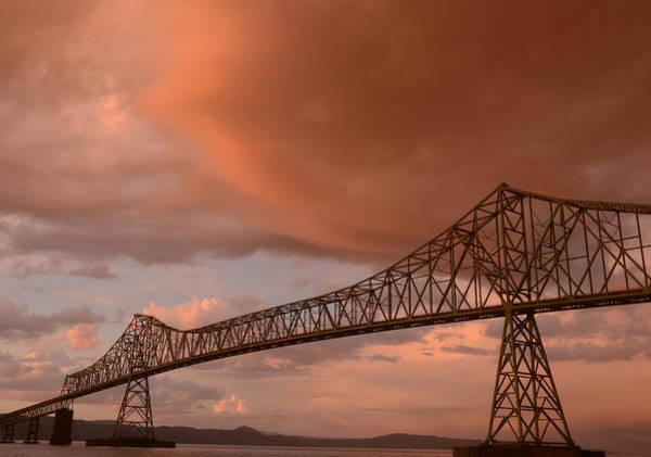Photograph - Astoria Oregon Bridge At Sunset by Craig Ratcliffe