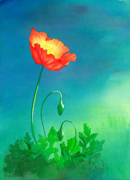 Paramhansa Yogananda Painting - Astral Poppy by Mantradevi LoCicero