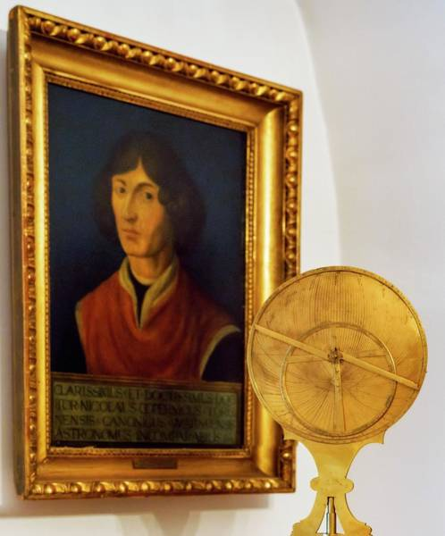 Astronomer Photograph - Astrolabe And Portrait Of Copernicus by Babak Tafreshi