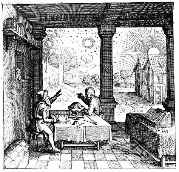 Horoscope Photograph - Astrologers Preparing A Horoscope by Universal History Archive/uig