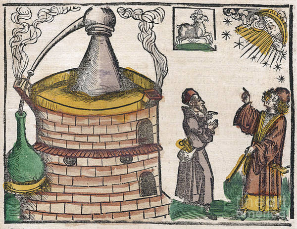 Arte Photograph - Astrological Influence On Alchemy 1512 by Science Source