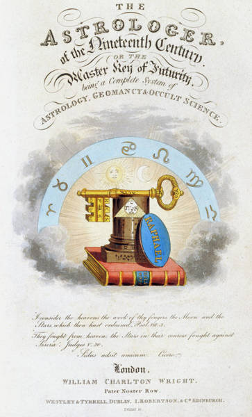 Saying Photograph - Astrology Book Title Page by Royal Astronomical Society/science Photo Library