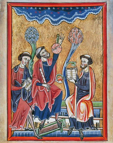 Astronomer Photograph - Astromers Observing The Heavens From 13th C. Book by J-l Charmet/science Photo Library